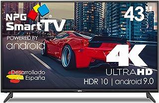 NPG LED TV, 109 cm (43 inch), 4 K, UHD Smart TV, Android 9.0, HDR WiFi PVR Dolby Digital+