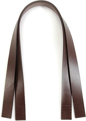 diseño simple y generoso 24,2cm byhands 100% 100% 100% Cuero marrón Bolso de mano asas y correa del bolso (20 4101)  hasta 42% de descuento