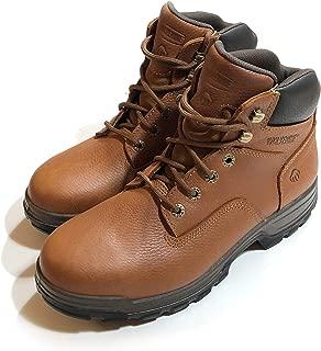 """Wolverine Wolverine Men's 6"""" Leather Steel Toe Waterproof Work Boot (9.5), Brown"""