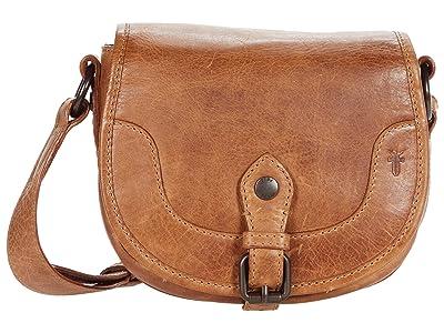 Frye Melissa Button Saddle (Beige) Handbags