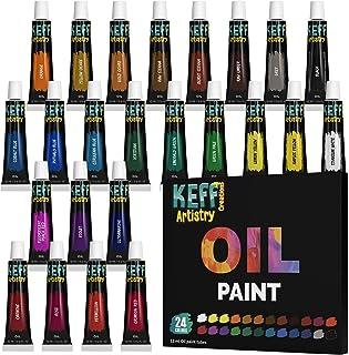 KEFF Creations- Oil Paint Set- Professional Quality Artist Paint Set- 24 Oil Paint Tubes, Rich Pigments, Non-Toxic. Paint ...