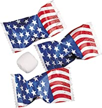 Fun Express USA American Flag Wrapped Buttermints (108 Mints) Fourth of July Patriotic Candy