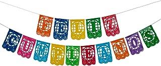 Paper Full of Wishes Small Plastic Banner I Feliz Cumpleaños I Mexican Papel Picado Letrero