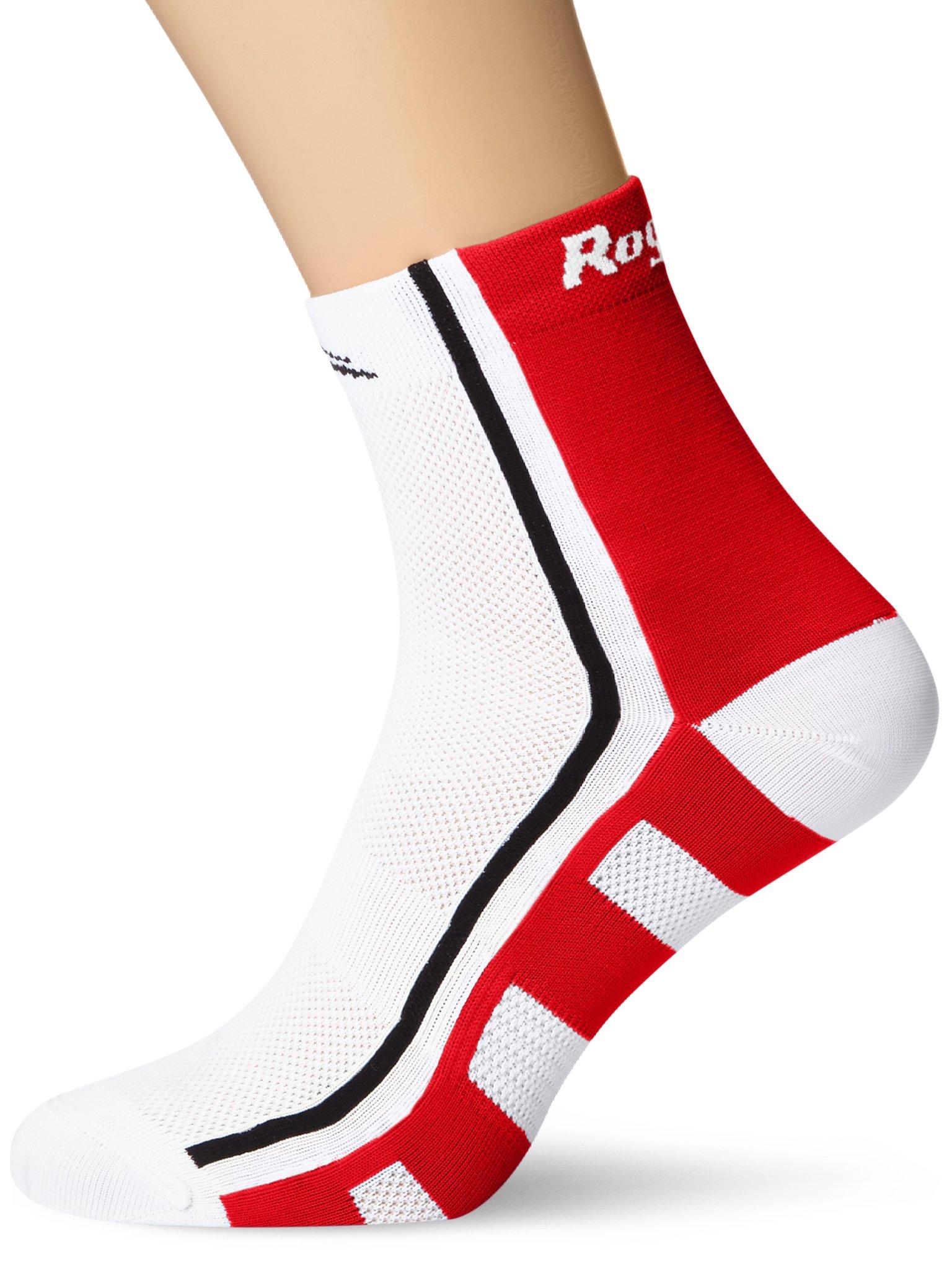Rogelli Herren Radsportsocken RCS-04, White/Red/Black, 44/47
