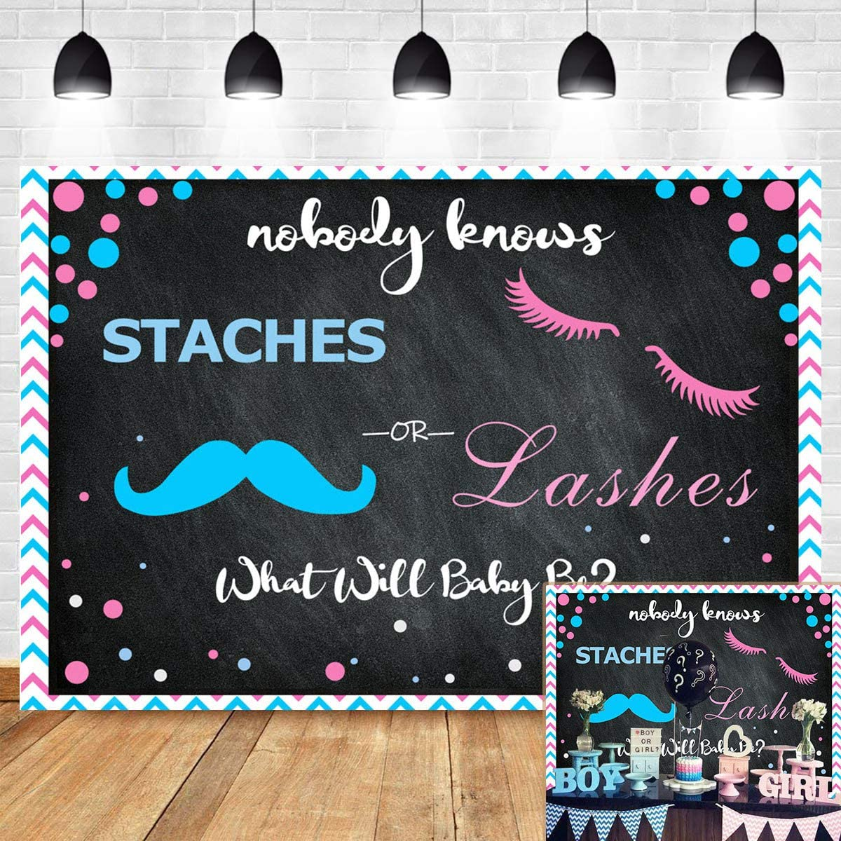 Staches or Lashes Photo Props Gender Reveal party Baby shower Pink or Blue boy or Girl Little Man or Miss