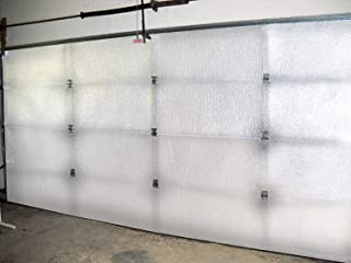 US Energy Products B1607 2 Car White Garage Door Insulation Kit R 7.5 Fits 16x7 & 16x8 with Double Sided Tape