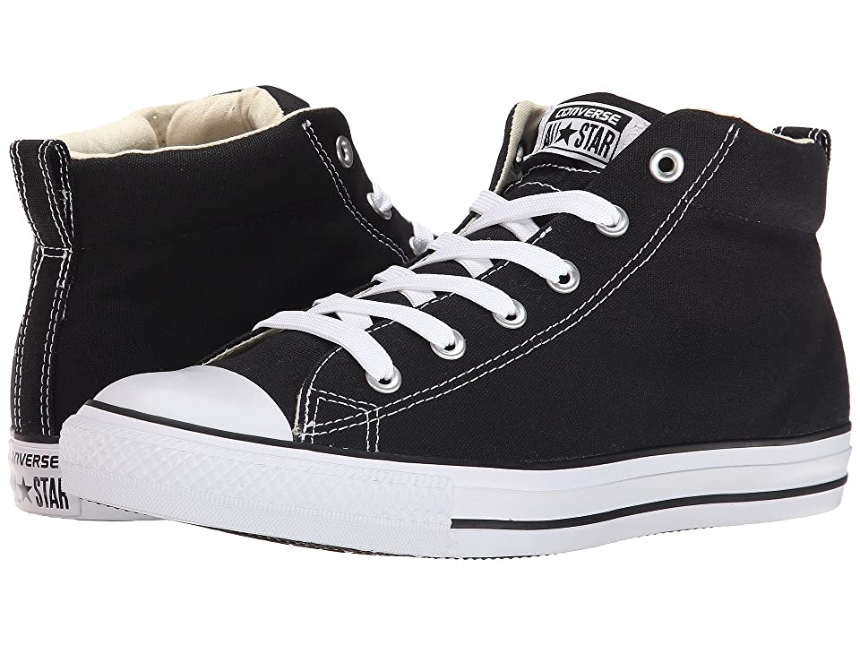 60s Mens Shoes | 70s Mens shoes – Platforms, Boots Converse - Chuck Taylorr All Starr Street Core Canvas Mid BlackNaturalWhite Lace up casual Shoes $59.99 AT vintagedancer.com