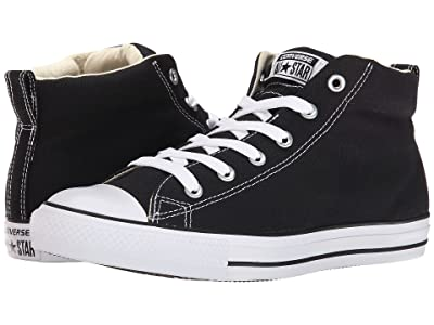 Converse Chuck Taylor(r) All Star(r) Street Core Canvas Mid (Black/Natural/White) Lace up casual Shoes