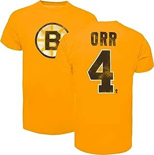 '47 Boston Bruins Bobby Orr Vintage NHL Alumni T-Shirt (Gold)