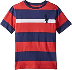 Polo Ralph Lauren Kids Striped Cotton Jersey T-Shirt (Big Kids)