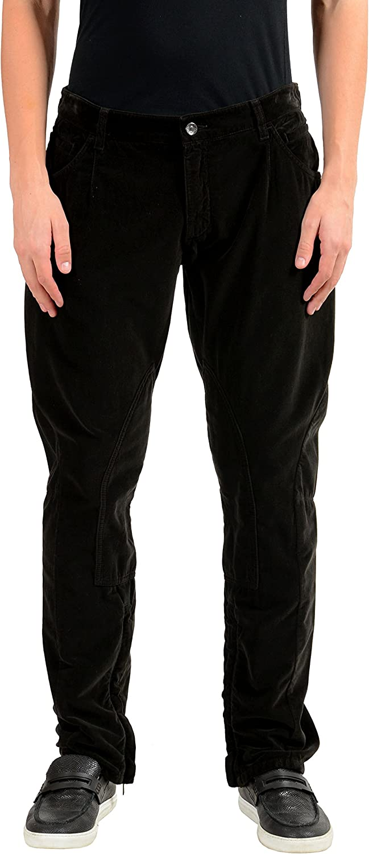 Dolce & Gabbana Men's Brown Velour Casual Pants US 36 IT 52