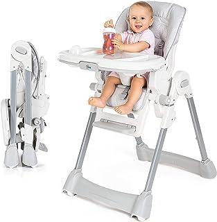 comprar comparacion Fillikid Baby Trona - Silla de bebé desde el nacimiento, asiento reclinable, cojin acolchado, cinturón, mesa con bandeja e...
