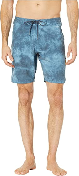 Solid Sets Washed Four-Way Stretch Boardshorts 18.5""
