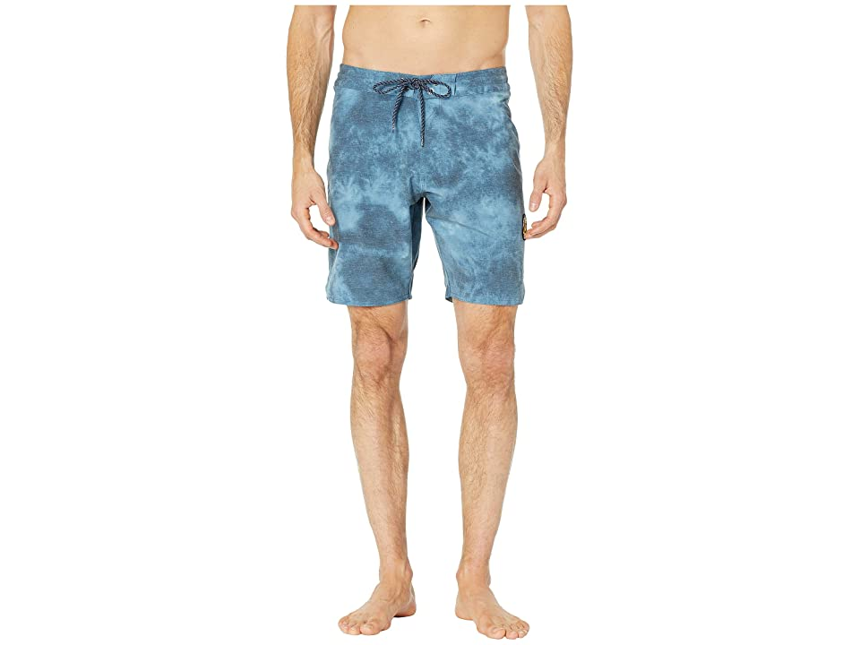 VISSLA Solid Sets Washed Four-Way Stretch Boardshorts 18.5 (Strong Blue) Men