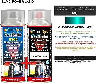Kit de retoque automotriz - Pintura en spray para coche en color metalizado/perla 966 MED. POLYNESIAN MET. VerniciSpray UMG and Gloss Clear Coat, 400 ml