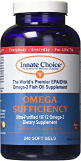Fish Oil Capsules, Omega Sufficiency by Innate Choice, Strawberry Lime 240 Capsules