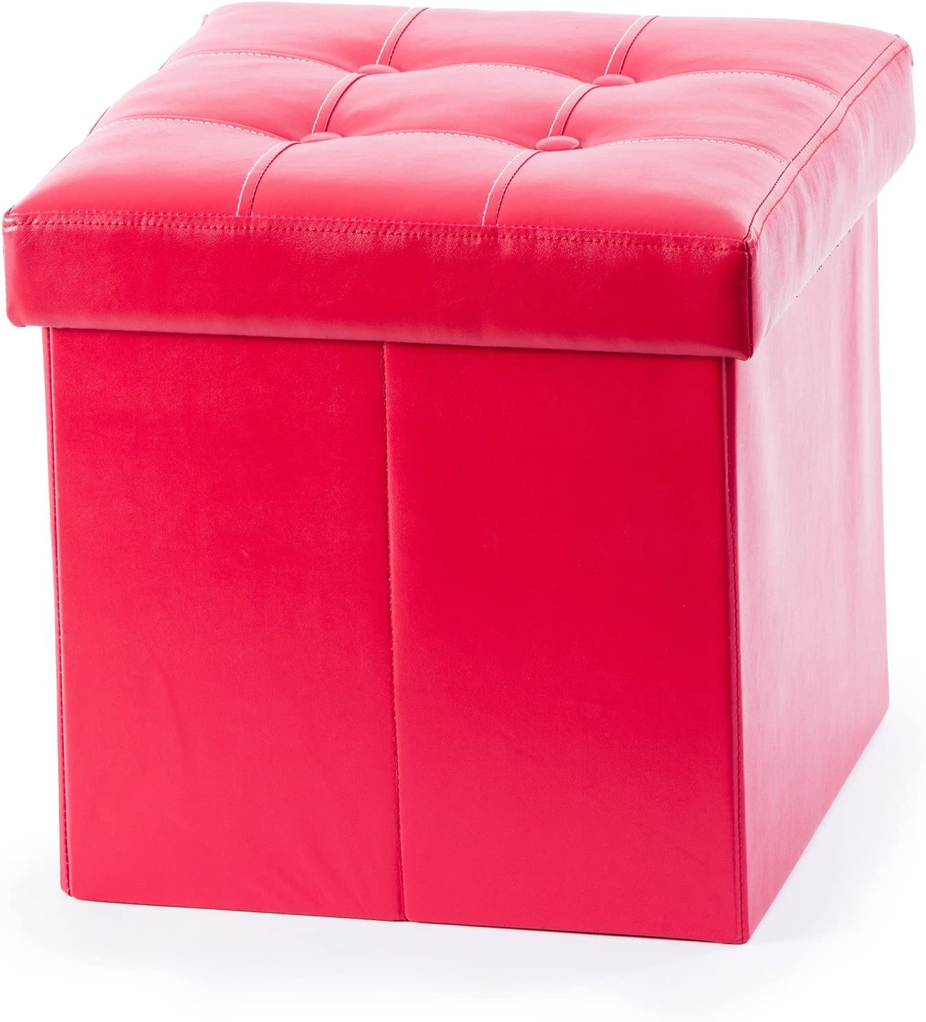 Guidecraft Kids Storage Ottoman - Red and Foot free Sale price wit Box Stool Toy