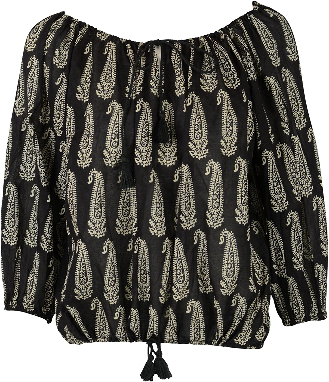 Denim & Supply Ralph Lauren Womens Paisley Boho LS Top