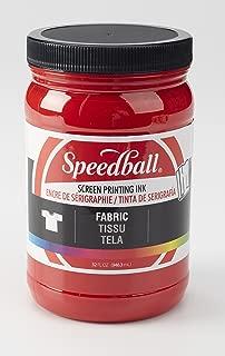Speedball 004601 Fabric Screen Printing Ink, 32 fl. oz, Red