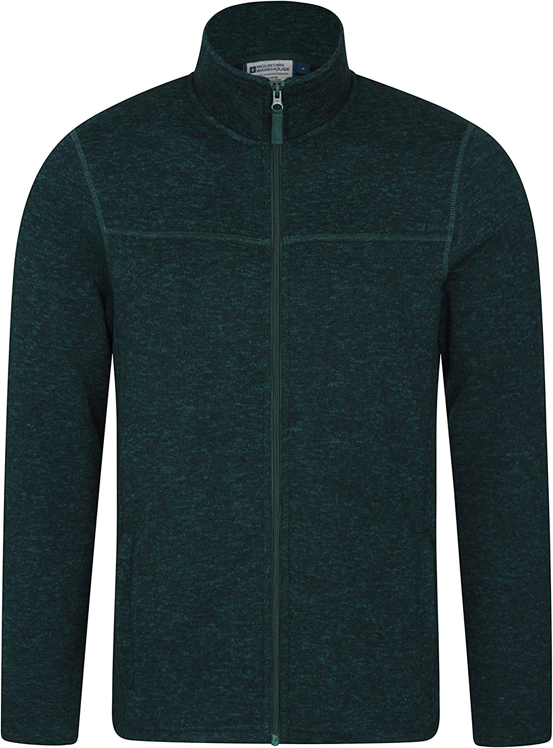 Lightweight Micro Fleece Jacket Soft Touch Pullover for Winter Navy L Quick Dry Fleece Breathable Full Zip Jacket Mountain Warehouse Idris Mens Fleece