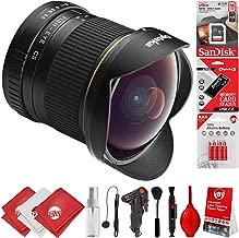 Opteka 6.5mm f/3.5 HD Aspherical Fisheye Lens & Removable Hood for Canon EOS 80D, 77D, 70D, 60D, 7D, 6D, 5D, 7D Mark II, T7i, T6s, T6i, T6, T5i, T5, SL1 & SL2 Digital SLR Cameras