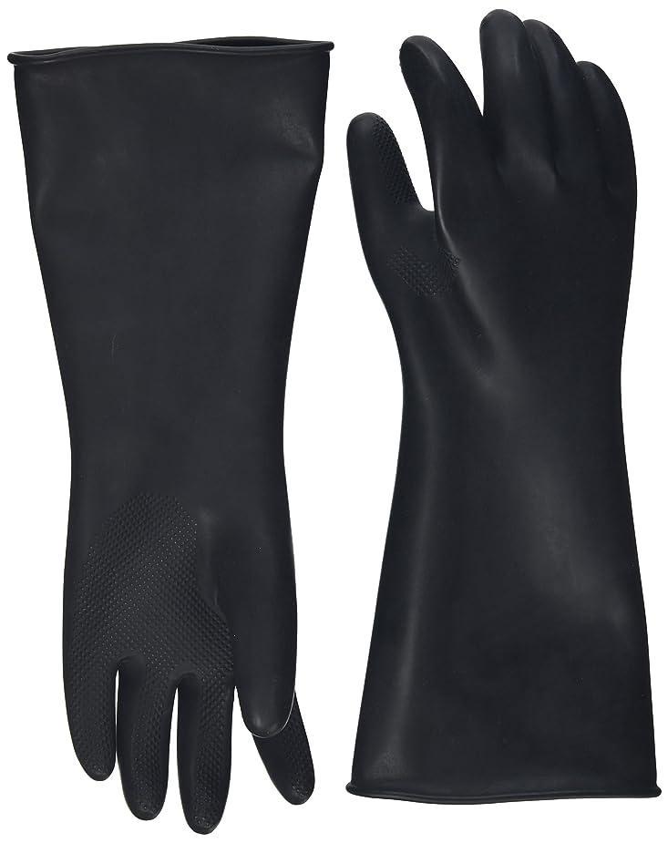 品種短命バブルハナキゴム 工業用手袋ハナローブ No.436 滑り止め付き曲指型 ブラック