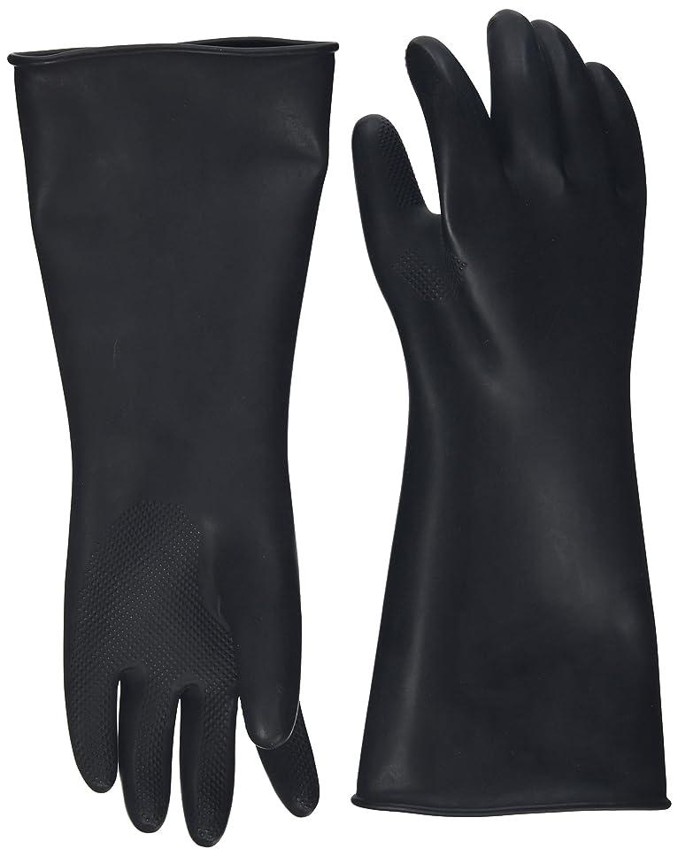 マザーランド製油所無秩序ハナキゴム 工業用手袋ハナローブ No.436 滑り止め付き曲指型 ブラック