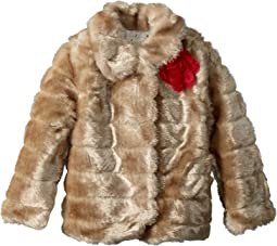 Kate Spade New York Kids Faux Mink Coat (Toddler/Little Kids)