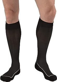 JOBST Sport Knee High 15-20 mmHg Compression Socks, Black/Cool Black, Large