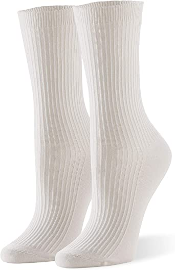 Hue womens Relaxed Top Crew Socks 3 Pair Pack