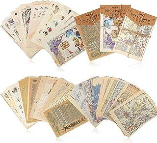 180 Feuilles Papier Matériel Scrapbooking Vintage Papier de Journalisation Vintage Papier d'Écriture de Lumière de Fond de...