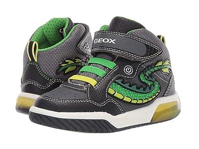 Geox Kids Jr Inek 7 (Little Kid) (Black/Green) Boys Shoes
