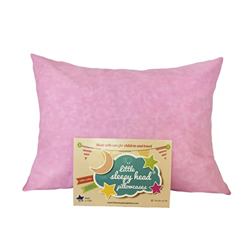 Little Sleepy Head Toddler Pillowcase - Original Collection: Pink Marble, 13 X 18