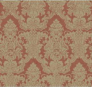 Aged Elegance Grey Garden Wallpaper Color: Burgundy/Gold Flecks/Honey Brown Metallic