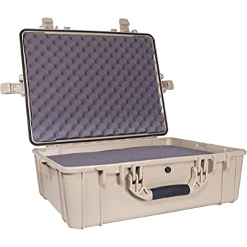 """Condition 1 25"""" XL Waterproof Protective Hard Case with Foam, Tan - 25"""" x 20"""" x 8"""" #839 IP67 Watertight Dust Proof and Shock Proof TSA Approved Portable Trunk Carrier"""