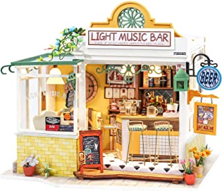 Rolife DIY Miniature Dollhouse Kit with LED 1/24 Scale Tiny House Making Kit Home Decor Gifts for Adults & Teens (Light Mu...