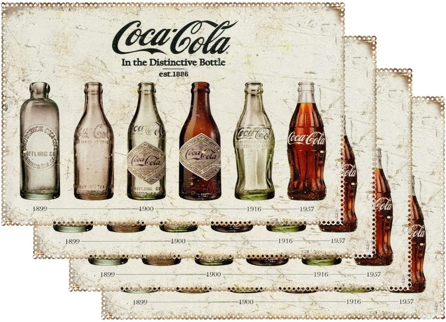Kitchen Table Placemats for service Outdoor Cola Dining Max 73% OFF Coca