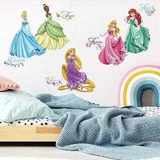ملصق حائط للأطفال من روم مايتس, ديزني برينسس رويال ديبوت , متعدد الالوان, RMK2199SCS