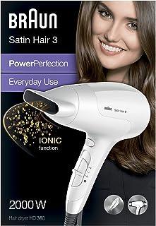 Braun HD380 - Secador de pelo, 3 niveles de temperatura, 2000 W, color blanco