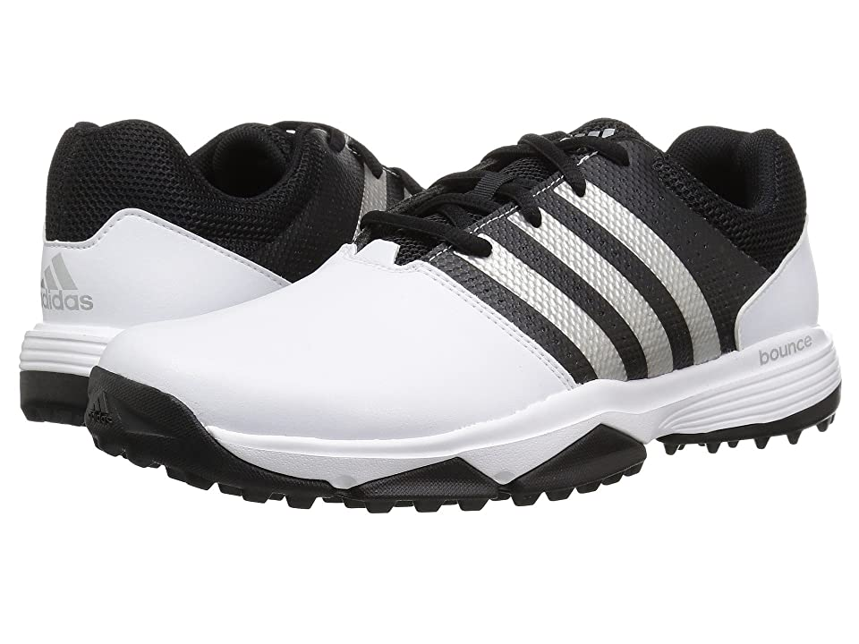 Image of adidas Golf 360 Traxion (Footwear White/Footwear White/Core Black) Men's Golf Shoes