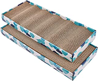 PEEKAB Cat Scratcher Cardboard Reversible Cat Scratching Pad Kitty Corrugated Scratching Bed Catnip Included