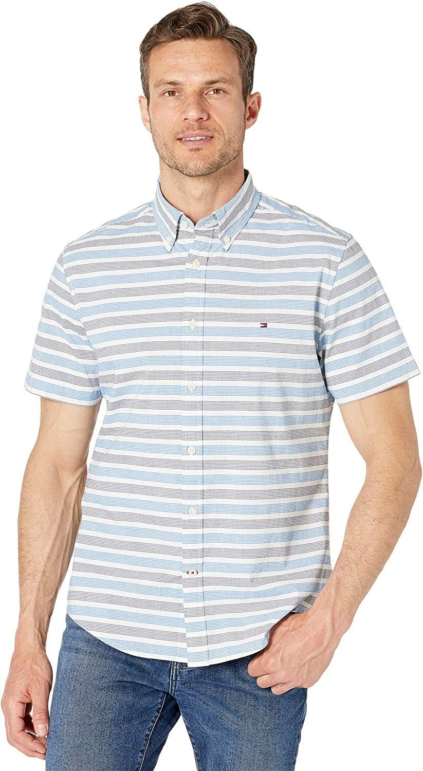 Tommy Cheap super 25% OFF special price Hilfiger Men's Short Sleeve Button Custom Fi in Shirt Down
