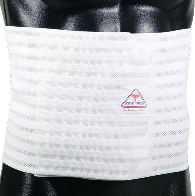 ITA-MED free shipping [Alternative dealer] Men's Breathable Elastic Abdominal 9 Inches Binder Wide