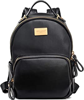 DAVIDJONES Women Backpack Leather Shoulder Bag
