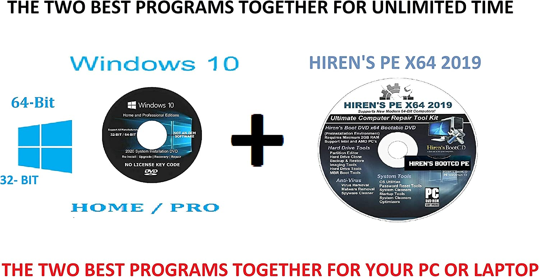 WINDOWS 10 PRO SALENEW very popular! and HOME 64-BIT DVD BI Ranking TOP7 AND BOOT-CD HIREN'S PE.X64