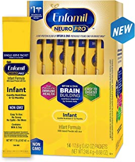 Enfamil 美赞臣 NeuroPro婴儿奶粉,补充大脑营养,每份独立包装,?#30475;?7.6 g,14袋装 (包装可能有更新)