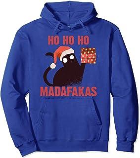 Ho Ho Ho Madafakas Funny Cat I Disfraz Pijamas Gato de Sudadera con Capucha