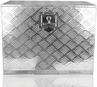 POINSETTIA Aluminum Tool Box Trailer Storage for Truck Tongue Box 60X40.5X46cm, Silver
