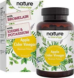 GloryFeel Apple Cider Vinegar Complex Capsules - 3 Month Supply - Detox, Diet Support & Bloating Relief - Fat Burner and Weight Loss Supplement