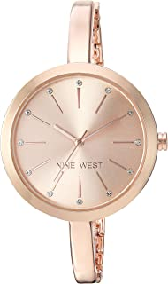 Nine West Women's Crystal Accented Bangle Watch